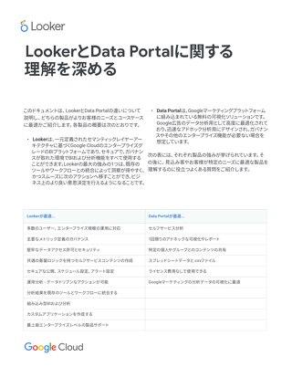 ホワイトペーパー:LookerとData Portal (旧Data Studio) に関する理解を深める