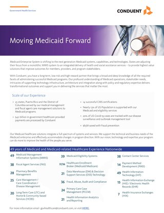 Moving Medicaid Forward