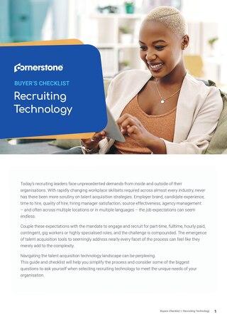 Recruiting Tech Buyers Checklist EN 2020