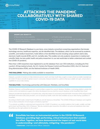 Attacking the Pandemic Collaboratively with Shared COVID-19 Data