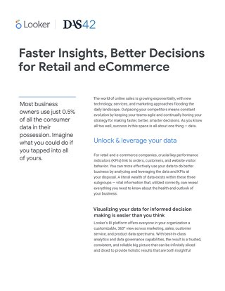 Faster Insights, Better Decisions for Retail and eCommerce