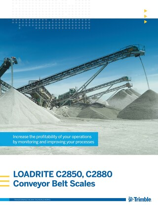 Trimble LOADRITE C-Series Belt Scales Brochure - English