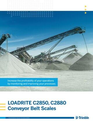 Trimble LOADRITE C-Series Belt Scales Brochure - English