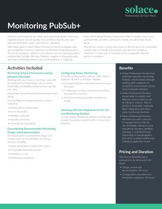 Monitoring PubSub+ | Professional Services