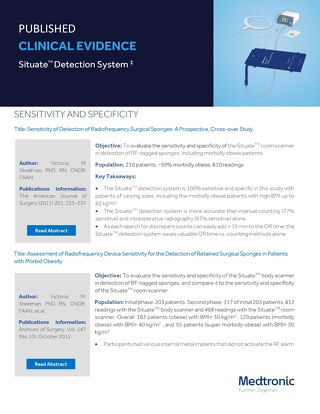 Clinical Evidence Summary - Situate detection system