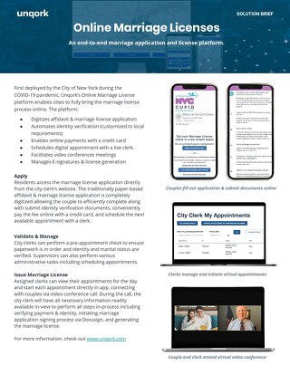 Solution Brief: Online Marriage License App