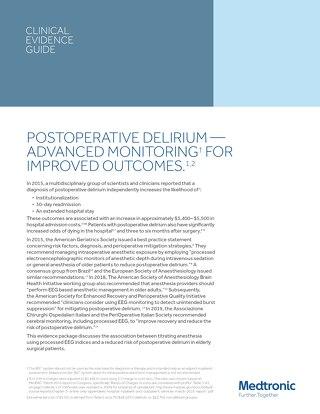 Postoperative Delirium - Advanced Monitoring for Improved Outcomes