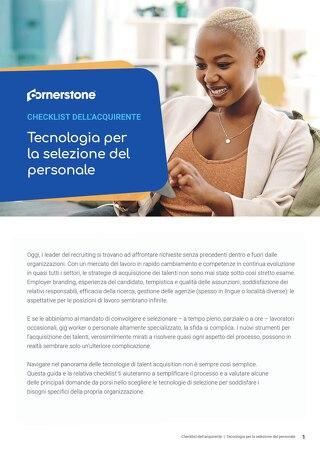 CHECKLIST dell'acquirente tecnologia per la selezione del personale