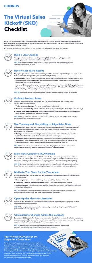 Virtual SKO Checklist