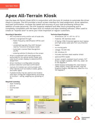 Apex All-Terrain Kiosk