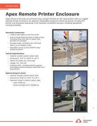Apex Remote Printer Enclosure