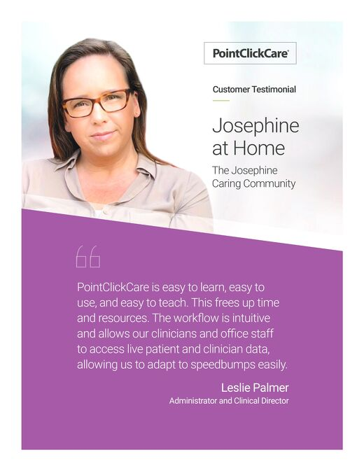 Customer Testimonial: Josephine at Home and Transitions of Care