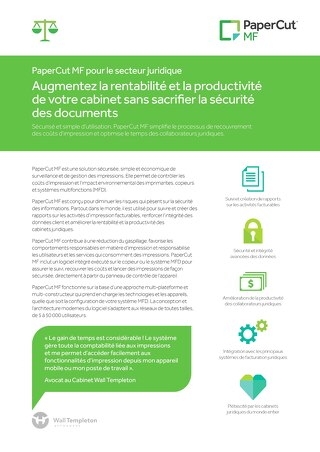 PaperCut MF Legal Factsheet en Français