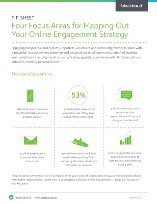 TIP SHEET: Map Out Your Online Engagement Strategy