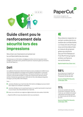 PaperCut Security en Français