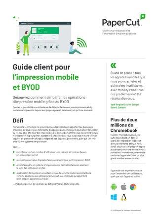 PaperCut-Mobile BYOD Printing en Français