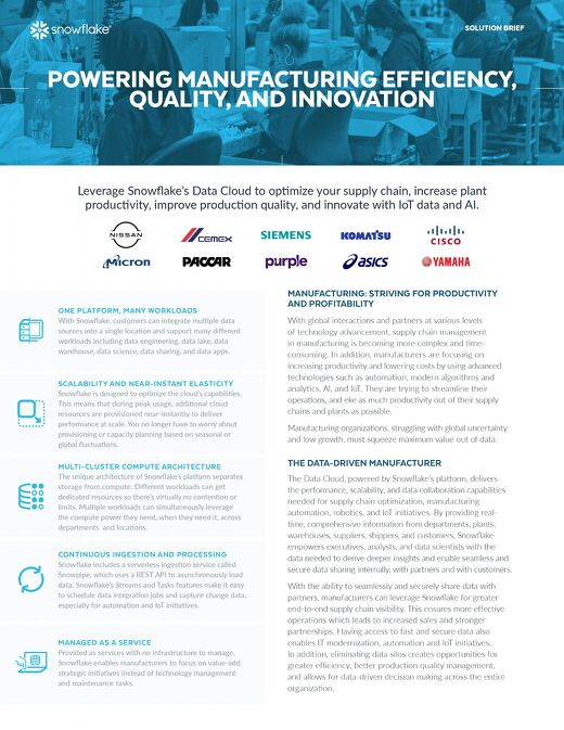 Powering Manufacturing Efficiency, Quality, and Innovation