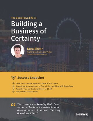 The BoomTown Effect: Building a Business of Certainty