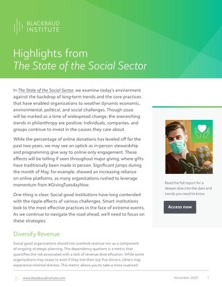 Nonprofit State of the Social Sector Summary