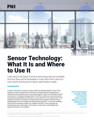 Sensor Technology: What It Is and Where to Use It