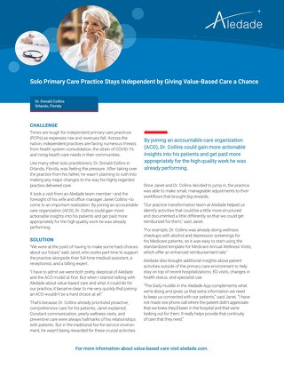 Solo Primary Care Practice Stays Independent by Giving Value-Based Care a Chance