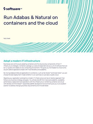 Run Adabas & Natural on containers and the cloud