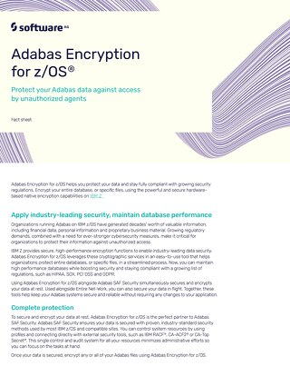 Facts about Adabas Encryption for z/OS®
