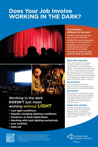 Working in the Dark Safety Tips Poster