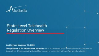 State-Level Telehealth Regulations