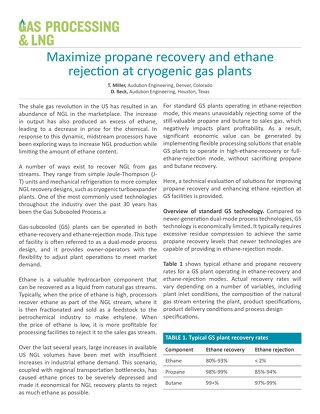 Maximize propane recovery and ethane rejection at cryogenic gas plants