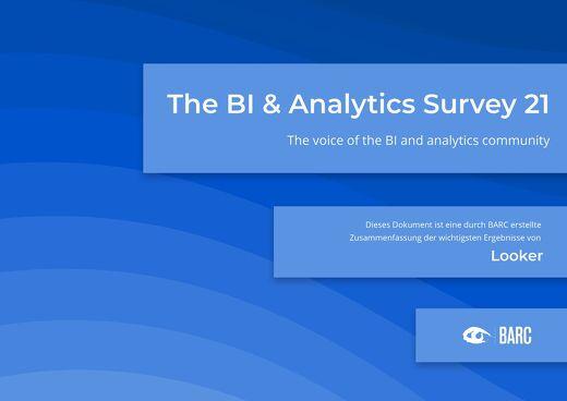 BARC: The BI & Analytics Survey 21 (Deutsche)