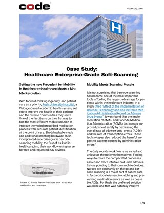 Case Study Healthcare Enterprise-Grade Soft-Scanning