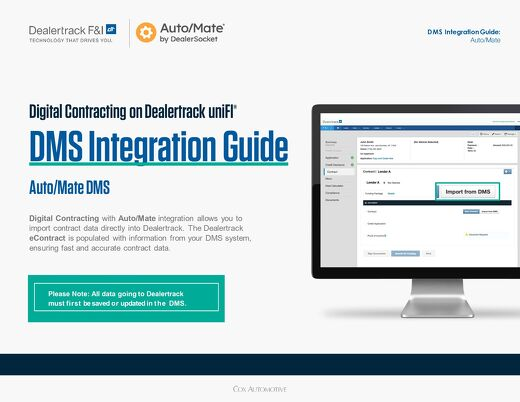 Digital Contracting DMS Integration Guide – Auto/Mate