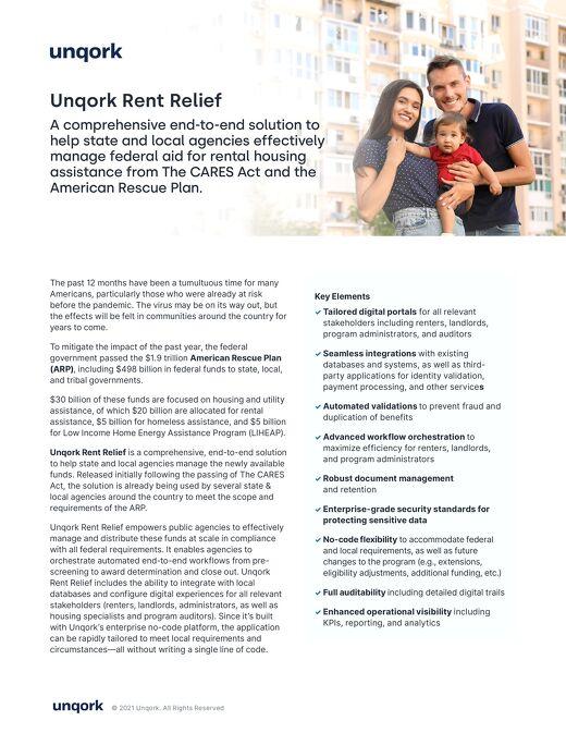 Unqork Rent Relief