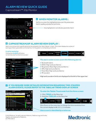 Alarm Review Quick Guide: Capnostream™ 20p Monitor