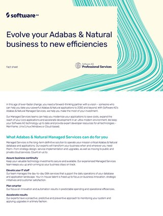 Managed Services for Adabas & Natural