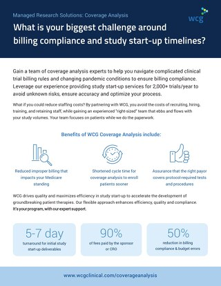 WCG Coverage Analysis Services