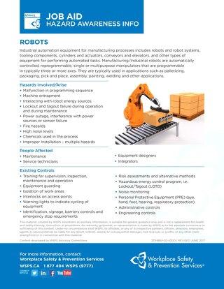 Job Aid - Robots