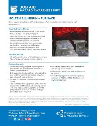 Job Aid - Molten Aluminum Furnace