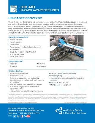 Job Aid - Unloader Conveyor