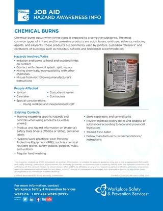 Job Aid - Chemical Burns