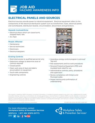 Job Aid - Electrical Panels and Sources