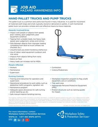 Job Aid - Hand Pallet Trucks and Pump Trucks