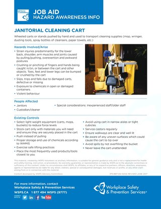 Job Aid - Janitorial Cleaning Cart