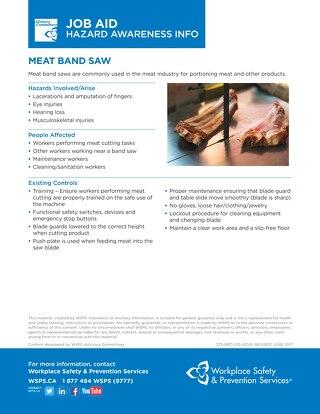 Job Aid - Meat Band Saw