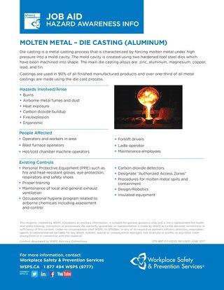Job Aid - Molten Metal Die Casting (Aluminum)