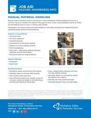 Job Aid - Manual Material Handling