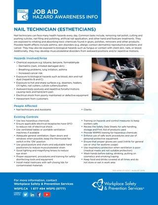 Job Aid - Nail Technician