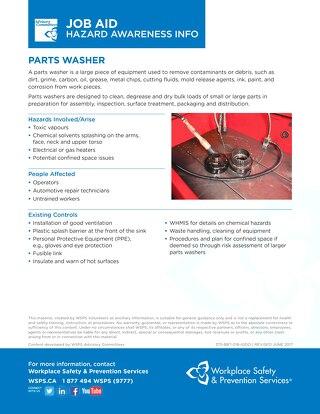 Job Aid - Parts Washer
