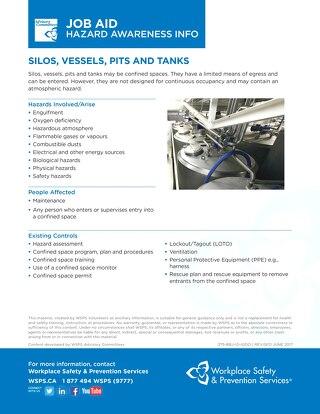 Job Aid - Silos, Vessels, Pits and Tanks